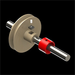 Universal hub for attaching wood parts to a metal shaft