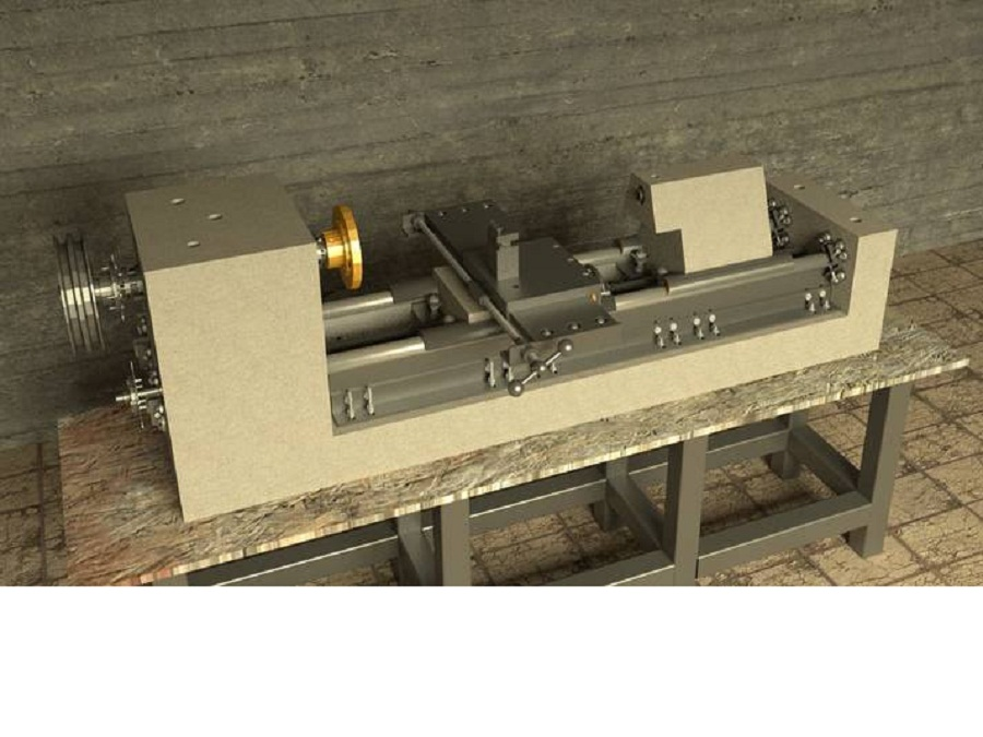 This concrete lathe design can change that. Based on a proven ...: opensourcemachinetools.org/concrete-lathe