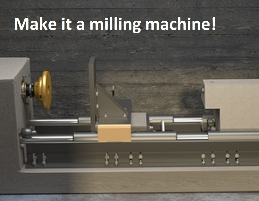 Make the concrete lathe into a milling machine